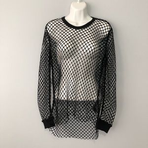 9a218657b11 H&M Tops | Hm Divided Fishnet Long Sleeve Top Small | Poshmark